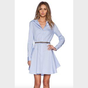 Halston Heritage Blue Fit and Flare Shirt Dress 2